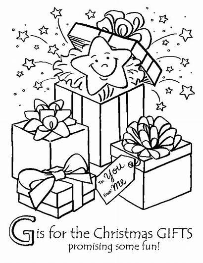 Coloring Presents Gift Xmas Gifts Sheets Colouring