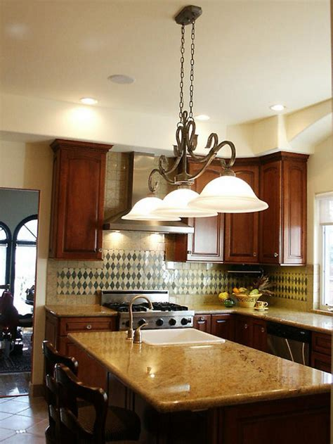 Combining Classic And Modern Kitchen Island Lighting