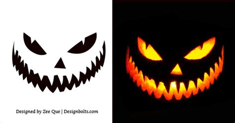 scary halloween pumpkin carving stencils patterns