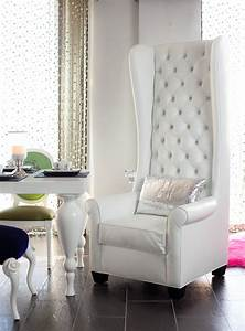 4186, Tall, Wingback, Chair, Upholstered, In, White, Croco, And, Tu, U2026