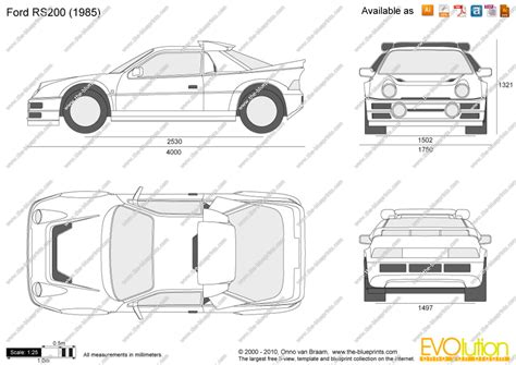 The-Blueprints.com - Vector Drawing - Ford RS200