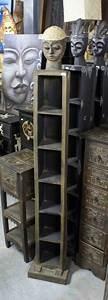 Range Cd Colonne : meuble colonne range cd en bois h 163 cm ~ Teatrodelosmanantiales.com Idées de Décoration