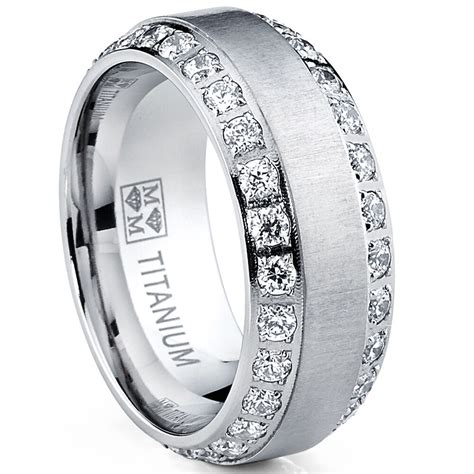 mens or womens eternity titanium lcs diamond wedding band ring sz gift ebay