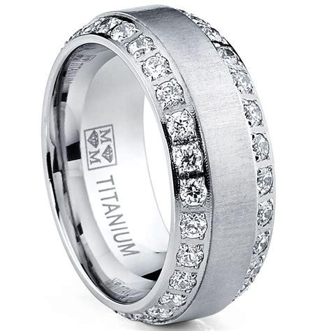 mens or womens eternity titanium lcs diamond wedding band ring sz 14 gift ebay