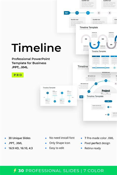timeline pack  powerpoint powerpoint template