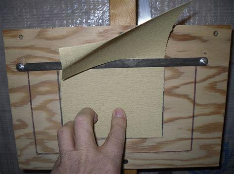 plans  build sandpaper cutter  plans