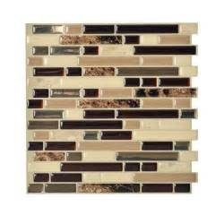 decorative wall tiles kitchen backsplash smart tiles bellagio keystone 10 00 in x 10 06 in peel and stick mosaic decorative wall tile