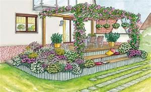 Blumenbeete Zum Nachpflanzen : so binden sie eine erh hte terrasse in den garten ein vorher nachher inspirationen f r den ~ Yasmunasinghe.com Haus und Dekorationen