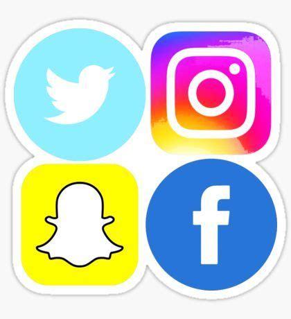 logo facebook instagram snapchat