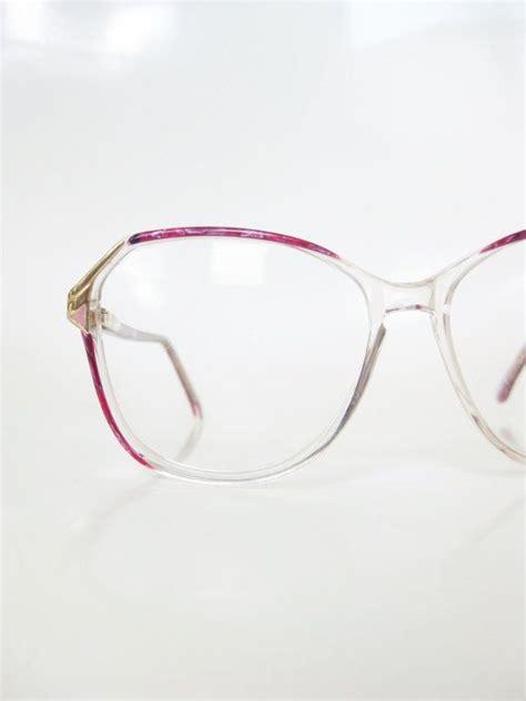 vintage  pink oversized eyeglasses sunglasses pearl