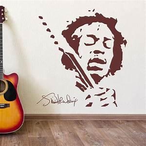 Jimmy hendrix music wall art vinyl sticker decal mural