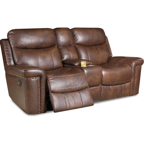 Dual Reclining Loveseat Leather by Cambridge Driftwood Aspen Leather Reclining