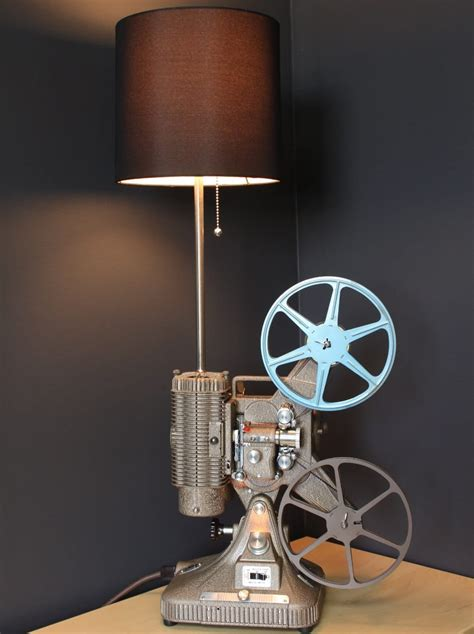 vintage mm projector industrial table lamp id lights