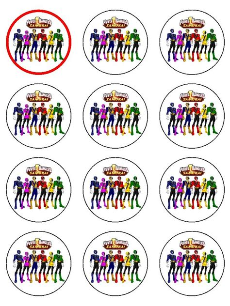 printable power rangers cup cake toppers google search power ranger birthday pinterest