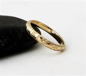 gold womens wedding band thin floral wedding band gold wedding ring 39 s wedding