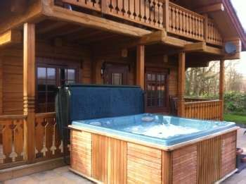 Log Cabins With Tubs Wales by Dwr Y Felin Log Cabins Carno Powys Mid Wales Wales
