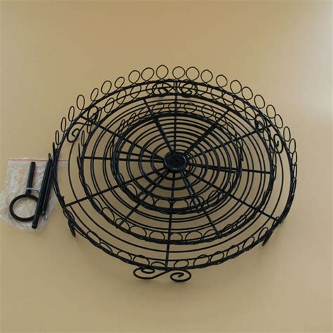 wrought iron  tier plate stand  tier stand kitchenette tabletop serving dishes  tier