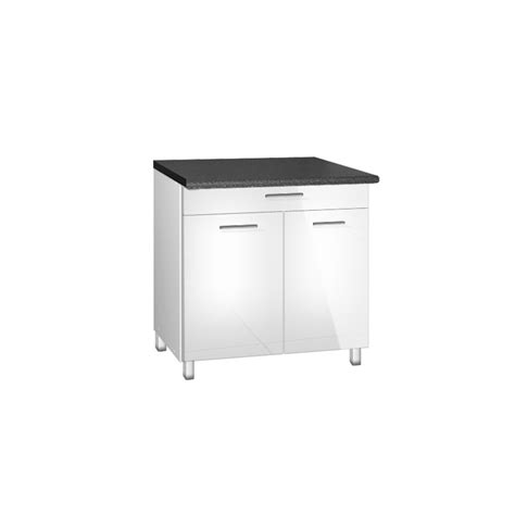 meuble bas cuisine hauteur 80 cm meuble de cuisine cm tiroir et portes tara blanc