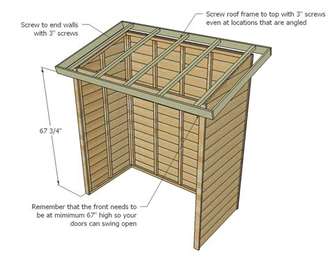 Ana White Firewood Shed by Kie Guide How To Build A Cinder Block Foundation For A Shed