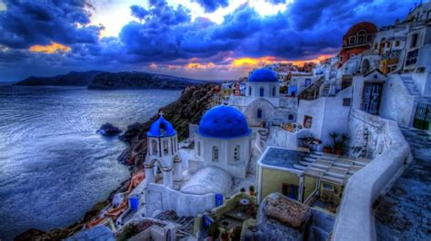 island  santorini wallpapers high quality