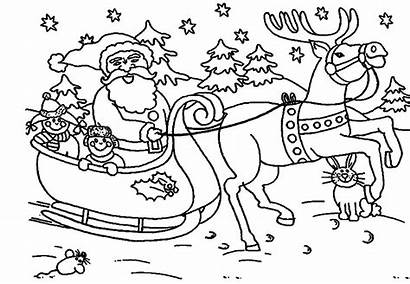 Santa Claus Coloring Pages Clipart Christmas Printable