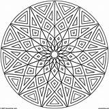 Coloring Geometric Pages Hard Cool Printable Designs Getcolorings Print Circles sketch template