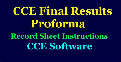 cce annual exams final results reports proforma record sheet