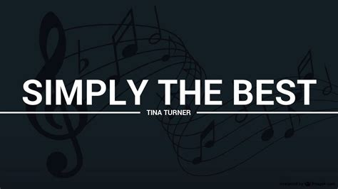 Tina Turner Simply The Best by Tina Turner Simply The Best Lyrics Karaoke Cover