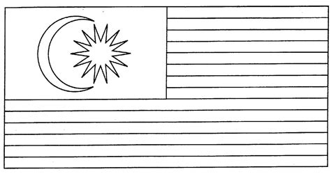 bendera malaysia gambar mewarna colouring picture