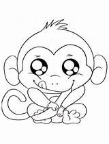 Coloring Monkeys Singe Coloriage Pages Children Dessin Dessiner Imprimer Colorier Le Animals Printable sketch template