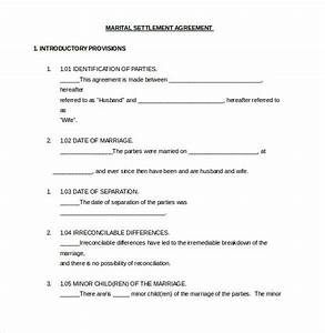 Marital Settlement Agreement Template Pennsylvania