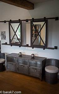 Grand Miroir Industriel : grand miroir industriel coulissant ranch life ~ Melissatoandfro.com Idées de Décoration