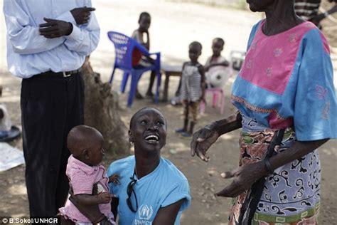alek wek has a baby supermodel alek wek visits refugee c in south sudan