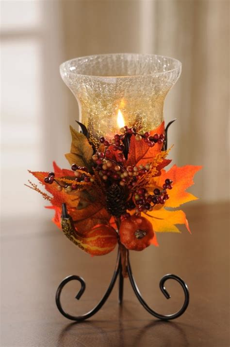 cozy  cute candle decor ideas  fall digsdigs