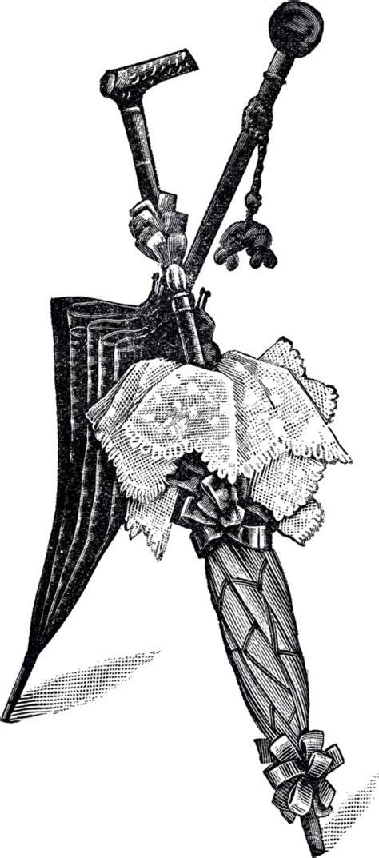 vintage umbrellas clip art  graphics fairy