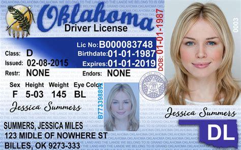 Oklahoma New Driver's License Application And Renewal 2019