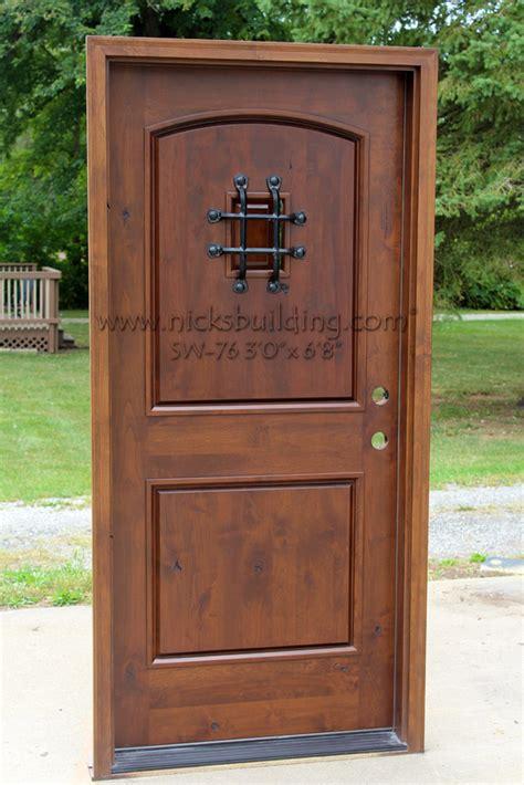 rustic front doors rustic doors single exterior door knotty alder doors