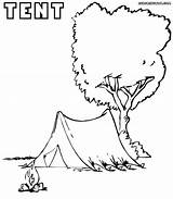 Tent Coloring Pages Colouring Colorings Coloringway sketch template