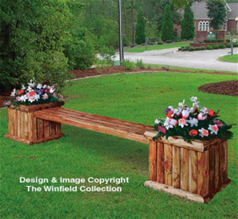 winfield collection landscape planter bench plan