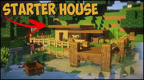 how to build a house minecraft starter house tutorial how to build a small