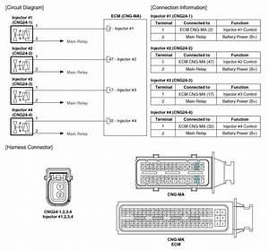 Hyundai Elantra  Injector  Schematic Diagrams
