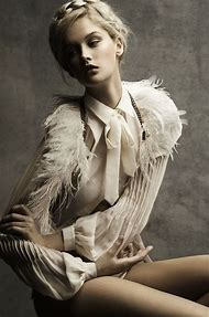 Editorial Fashion Photography Feathers