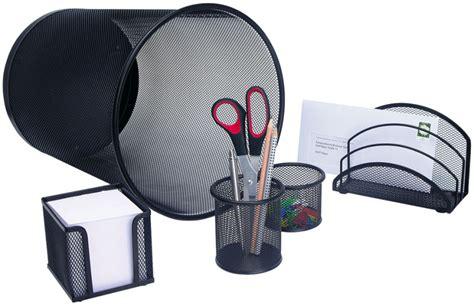 cadeau pour bureau wedo set de bureau 39 office 39 en fil métallique noir