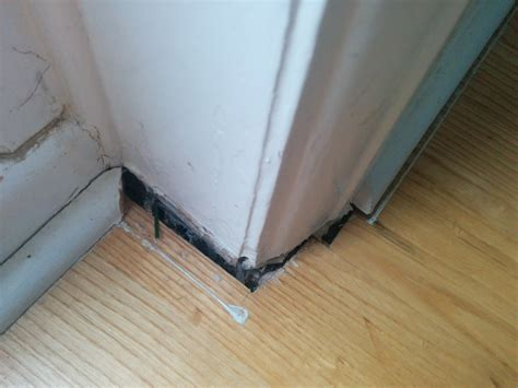 Wood floor gaps near skirting board   any solutions other