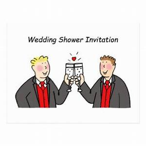 gay wedding shower cards photocards invitations more With wedding shower for two grooms