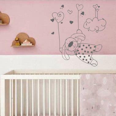 stickers lapin chambre bébé stickers chambre enfant lapin dans les nuages
