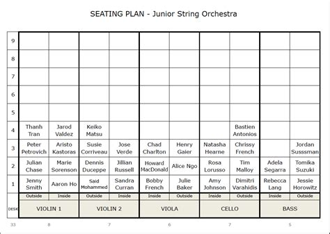 seating plan template  string orchestra smart