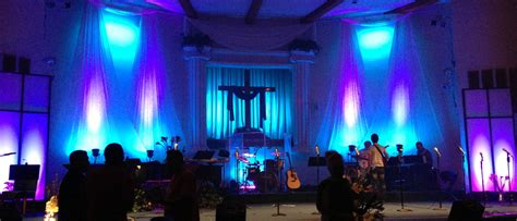 easters falling church stage design ideas