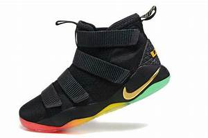 Nike LeBron Soldier 11 Black Gold Rainbow 2017 | New ...