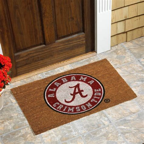 college doormats alabama crimson tide logo coir door mat official alabama